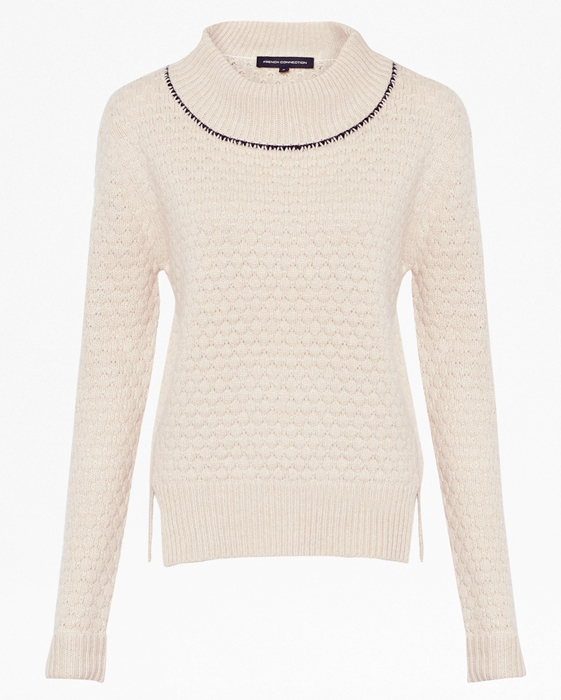 French Connection Popcorn Knitted Long Sleeved Jumper